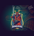 samurai esports logo for your team vector image vector image