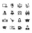 School Icon Black vector image