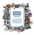 scientific research poster with study attributes vector image vector image