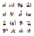 Sedentary Icon Flat vector image vector image