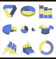Set of flat icons on stylish background economic