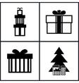 Set of Holiday Icons Christmas vector image