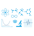 signs of science - set vector image