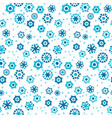simple ute winter snowflakes seamless pattern vector image