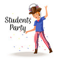 students party colorful poster vector image vector image