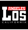 T shirt Los Angeles CA vector image vector image
