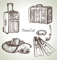 Travel set hand drawn vector image vector image