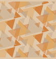 triangle shapes vintage seamless pattern vector image vector image