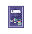 tropical summer poster trendy seasonal background vector image vector image
