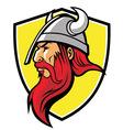 viking mascot vector image vector image