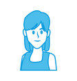 woman face smiling cartoon vector image vector image
