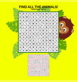 word search game with solution vector image