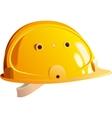 yellow helmet builder vector image vector image