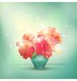 Shining flowers roses in vase vector image