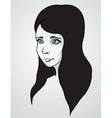 Beautiful woman portrair vector image