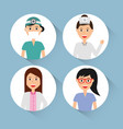 doctors staff hospital professional people vector image