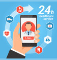 healthcare mobile service concept vector image