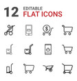12 cart icons vector image vector image