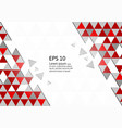 abstract geometric red and gray background modern vector image