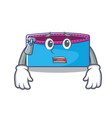 afraid pencil case character cartoon vector image