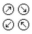 arrow sign icon set black arrows on white vector image vector image