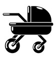 baby carriage family icon simple black style vector image vector image