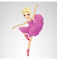 Ballerina Dancing In Purple Dress vector image