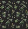 beautiful watercolor medical marijuana vector image