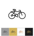 bike icon bicycle symbol or biking travel sign vector image