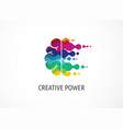 brain creative mind learning and design icons vector image vector image