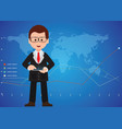 businessman hand holding a digital tablet and vector image vector image
