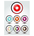 buttons cross sign vector image