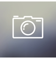Camera thin line icon vector image