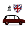 car icon United kingdom design graphic vector image vector image