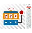 casino machine flat icon with bonus vector image