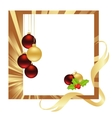 christmas gold vector image vector image