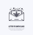 christmas letter to santa claus new year party vector image