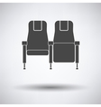 Cinema seats icon vector image