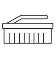cleaning brush line icon sig vector image vector image