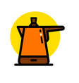 coffee outline icon vector image