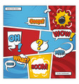 comic book page template with cartoon vector image