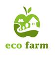 concept eco farm in apple form vector image vector image