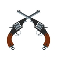 Crossed revolvers icon vector image vector image