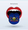 electoral vote of pennsylvania abstract mouth vector image