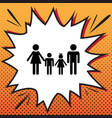 family sign comics style icon on pop-art vector image vector image