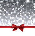 Festive background with red bow vector image