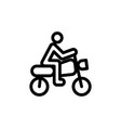 flat line motor cycle motor cross icon symbol vector image