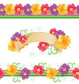 flowers and butterflies borders vector image vector image