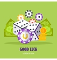 Good Luck Concept Banner In Flat Design vector image