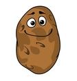 Goofy cartoon farm fresh potato vector image vector image